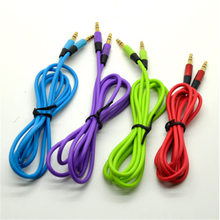 New 3.5mm Mini Stereo Male Gold Jack Plug Audio Cable Cord Car Aux Player Cords 4 Colors for Choice(China)
