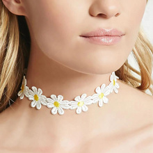 W-AOE 2017 New Brand Trendy Flowers Choker Necklaces For Women Girl Chain Collar Choker Necklace Christmas Gift