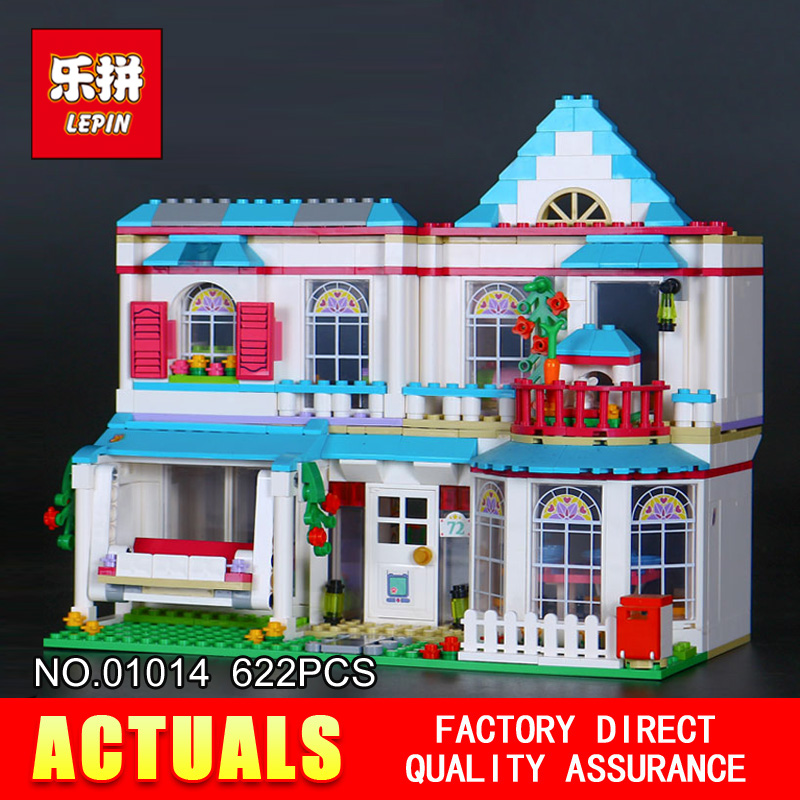 2017 new LEPIN 01014 friends 622pcs Stephanies house Model Building blocks Bricks Compatible Toy Gift 41314<br>