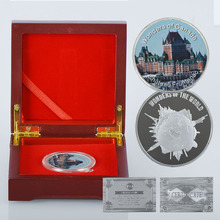 WR 1 Tory 999 Gold Bar Sliver Coins Canada Chateau Frontenac Commemorative Metal Golden Festival Ornament for Collection