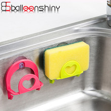BalleenShiny Cute Sponge Soap Holder Storage Suction Cup Convenient Home Kitchen Tools Gadget Decor Wall Mounted Hook Rack
