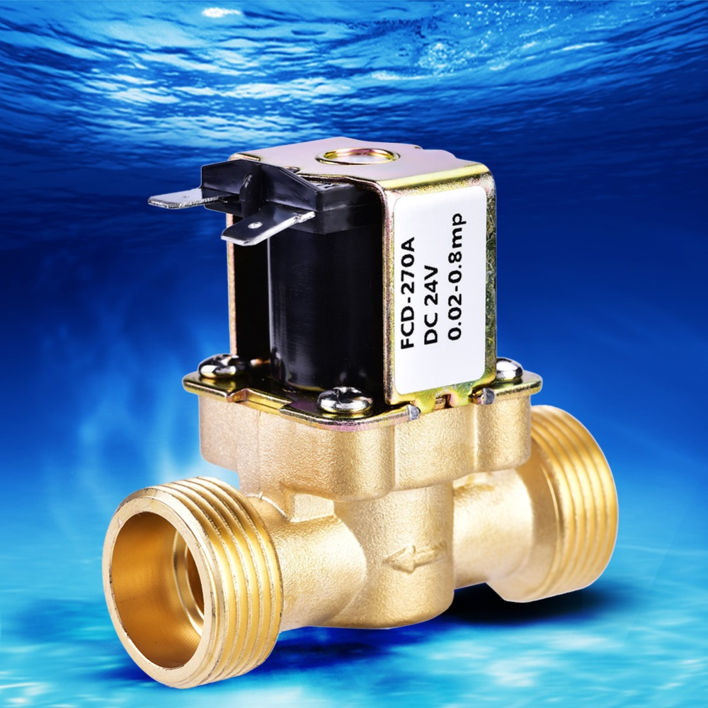 """3//8/"""" 1//4/"""" Plastic Electric Solenoid Valve Magnetic Water Air Normally Close UK"""