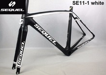 SEQUEL carbon fiber bike frame road 780g (size 47,black frame ) Toray T1000 60T colorful choices 2 years warranty carbon frame