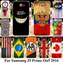 Soft TPU Plastic Phone Cases For Samsung Galaxy J5 Prime On5 2016 G570 G570F/DS G570Y G570M G570F Covers UK Russia Flags Bags