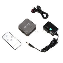 New 3 Port Digital Optical Audio Switch with IR Remote Control (SPDIF / Toslink 3 In 1 Out)