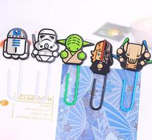 6 pcs/Lot Cartoon bookmark Star wars book marks paper clip holder stationery office accessories School supplies