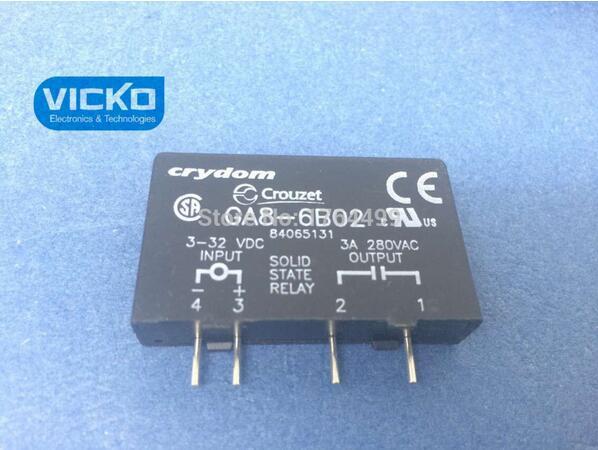 [VK]GA8-6B02 PCB SIP SSR 240VAC/3A 3-28VDC RN  <br>