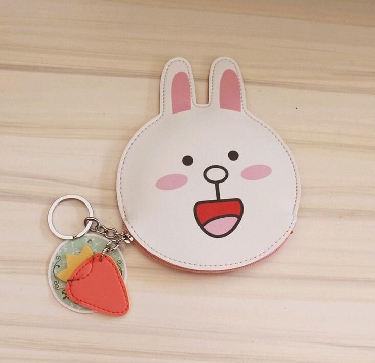 M304 Cute Creative Cartoon Bear Rabbit Doll Bag Headset Line Data Line Coin Purse  Card Bag Girl  Women Student Gift Wholesale<br><br>Aliexpress