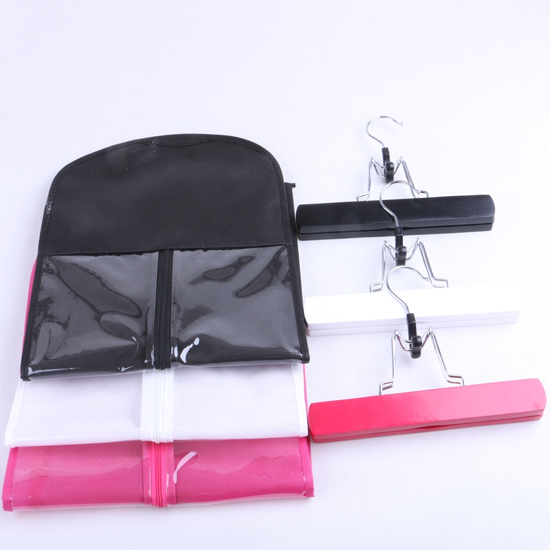 black hair extension packaging suit case bag zipper hanger 1