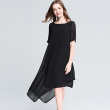 Buy 2017 Plus Size 5XL Summer Dress Vintage Elegant Loose Office Evening Party Womens Clothing Beach Club Ladies Black Long Dresses for $45.22 in AliExpress store