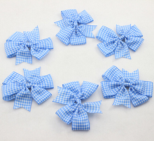 2016 New Plaid Baby Hairbows for Girl Hair Accessories Boutique Felt Bow with Clips for Children Infant bows 20 pcs/lot