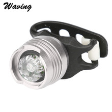 LED Waterproof Bike Bicycle Cycling Front Rear Tail Helmet RedFlash Lights Safety Warning Lamp Cycling Safety Caution Light Feb9(China)