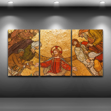 Canvas HD Prints Pictures Wall Art Framework 3 Pieces Jesus Christ Paintings Classical Poster Modular Home Decor For Living Room(China)