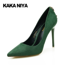 Wedding 4 34 Small Size Pointed Toe Pumps Blue High Heels Stiletto 9cm Inch Women Shoes 2017 China Ultra Green Dress Autumn