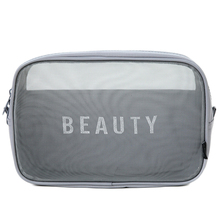 HIPSTEEN Make up Bag Breathable Mesh Cosmetic Bag Traveling Makeup Organizer Creative Nylon Storage Case