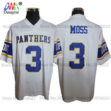 Cheap American Football Jerseys Randy Moss #3 West Virginia Dupont Panthers High School Throwback jerseys Retro Stitched Shirts