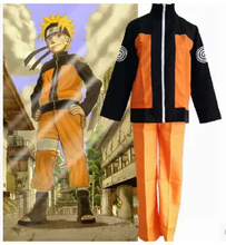 adult Halloween costumes Uzumaki Naruto cosplay costume for men anime clothes jacket suits(China)