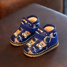 Winter Baby Snow Boots Warm Fur Toddler shoes Baby Girl Crib Shoes Cartoon Bear First Walker Infant Newborn Baby Shoes Footwear