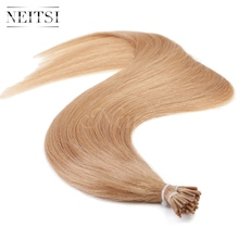 "Neitsi I Tip Stick Tip Keratin Human Hair Extensions 100% Brazilian Virgin Remy Hair Straight 20"" 1g/s 50g 27# Blonde Color"