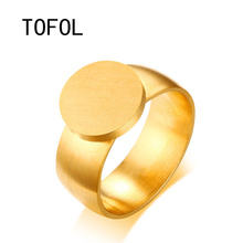 TOFOL Stainless Steel Custom Name Rings Engraving Customed Gold Engraved Lettering Personalized Gifts Ring for Men Women Gift(China)