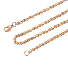 3MM 316L stainless steel necklace chains, women Gold stylish accessories necklaces jewelry