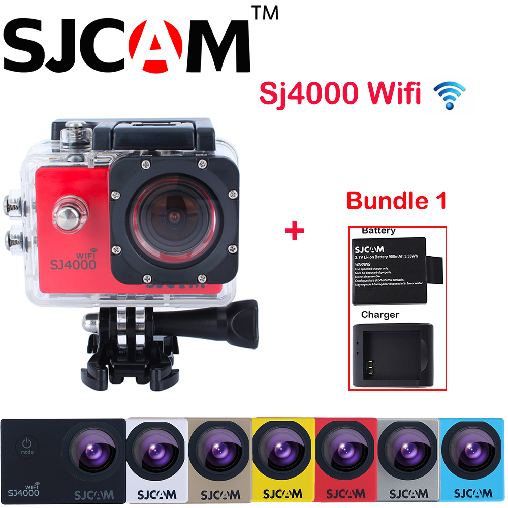 Extra Battery and Charger ,Original SJCAM SJ4000 WiFi 1.5 12MP NTK96655 30M Waterproof Sports Action Camera Sj 4000 Wifi Cam DV<br><br>Aliexpress