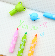 6 Pcs/set Kawaii Amazing Animal Head Highlighter Fluorescent Pen Markers Gift Stationery(China)