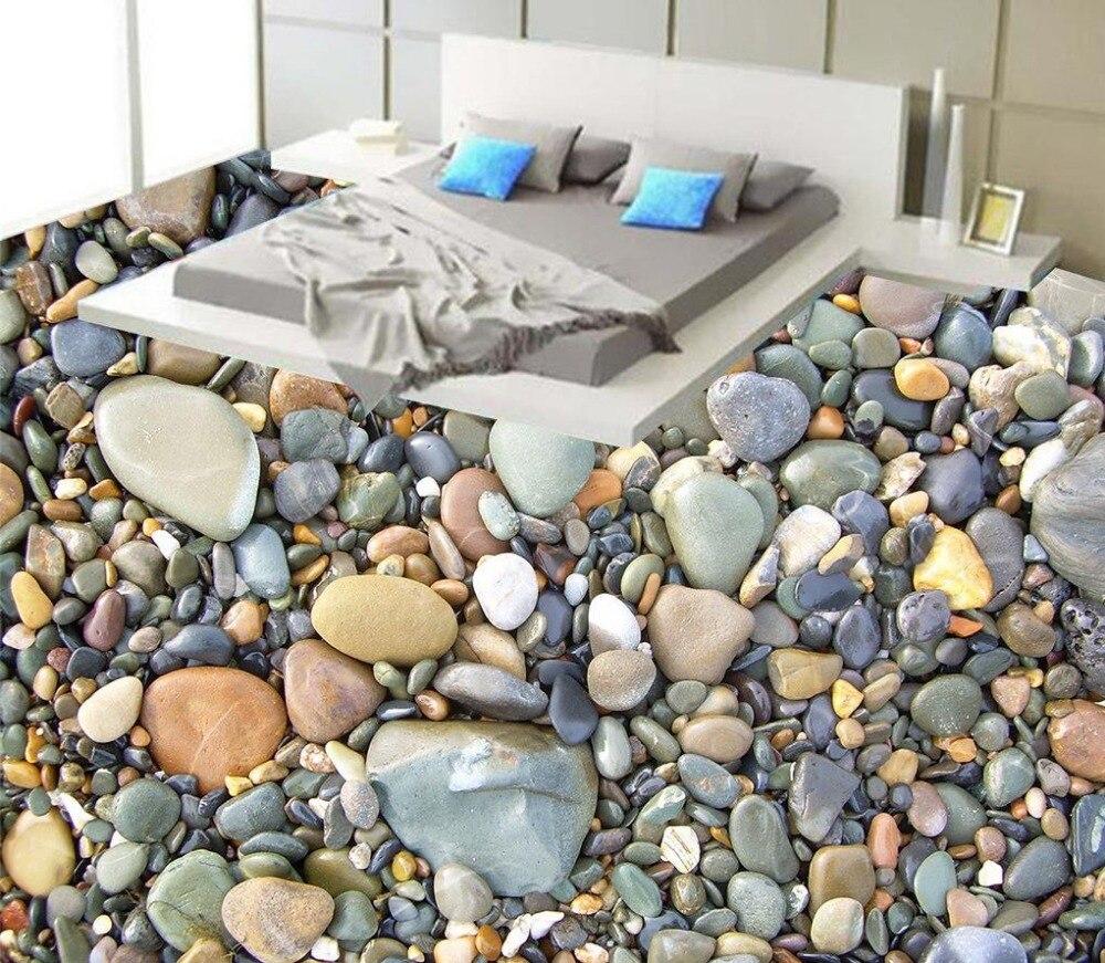 3D PVC floor wallpaper Photo floor wallpaper 3d stereoscopic  Home Decoration stone 3d floor art  <br>