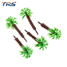 Teraysun 6cm Model Miniature scale Palm Tree for Architecture Plastic Palm Tree Model Miniature scale Palm Tree for sea scenery