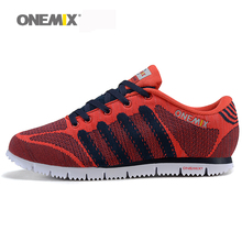 ONEMIX 2016 man outdoor sports shoes autumn athletic shoes lightweight running shoes comfortable walking shoes size US 7-10