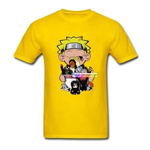 New Naruto T Shirt Custom fashion T Shirt Men Hip Hop Cool O-neck Cotton Plus Size Anime Men's Shirts(China)