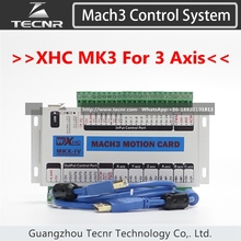 XHC MK3 Mach3 breakout board 3 axis USB motion control card 2MHz support windows 7,10