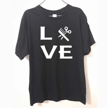 Fashion New T-shirts Men Short Sleeve Love Hairstylist Barber Stylist Tee Hair Cuttery T Shirts Male Tshirts(China)