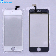 Netcosy Touchscreen Panel Glass For iPhone5 Touch Screen Sensor Digitizer LCD Display Lens For iphone 5 5G Replacement Parts(China)