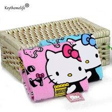 Keythemelife Home Textile Hand Towel Hello kitty Soft Face Towel Cleaning Towel Dry Hair Towel for kitchen Bathroom D(China)