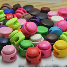 Wholesale High Quality Mixed color Plastic Spring Stopper Double Holes Plastic Lanyard Cord Locks Stopper  ,D156