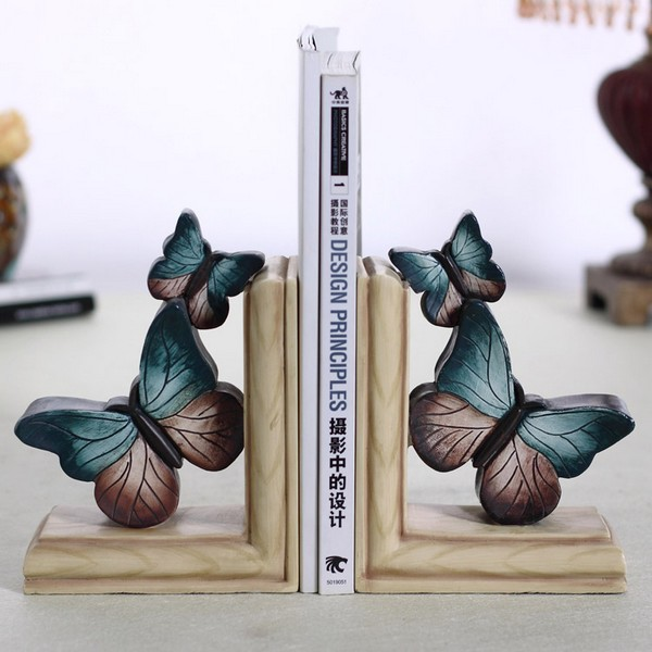 Vintage American bookends books bookend creative modern home decorations ornaments bookcase study book by book stalls(China)