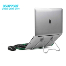 New Folding Portable Laptop Stand Viewing Angle/Height Adjustable Quality Aluminum Alloy Bracket Support 10-17 inch Notebook(China)