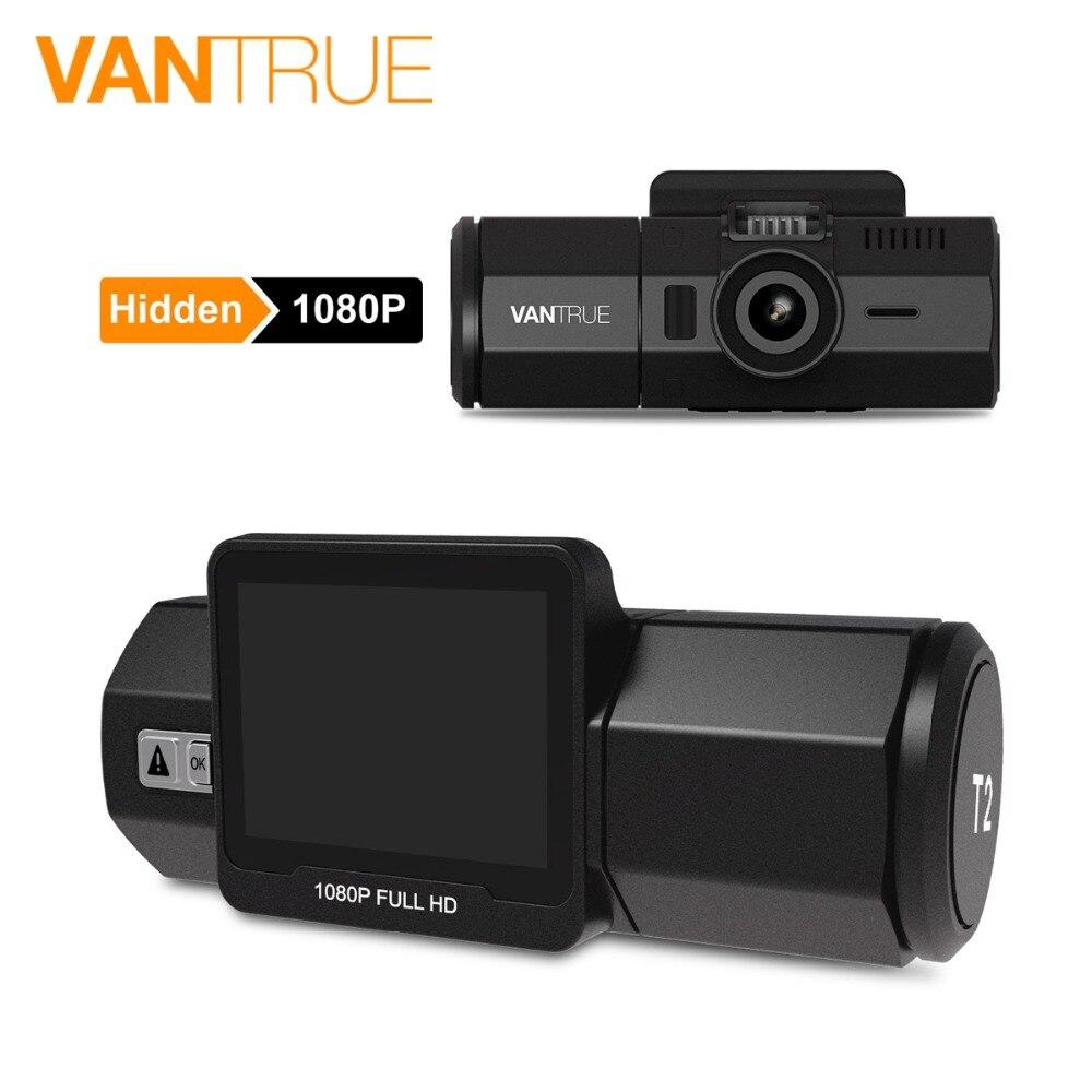 Vantrue T2 Dash Camera NT96655 Video Recorder 160 Degree View Wave Guard Packing Monitor Night Vision G-Sensor Car DVR Camera  (1)