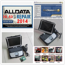 2017 Auto repair software V10.53 alldata and Mitchell on demand 2015 in 1TB HDD installed For Panasonic Toughbook CF19 2G Laptop