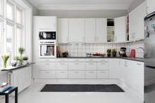 modern kitchen designs with white lacquer painting