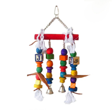 Colorful bird toy for small and medium parrots or other Bird pet toys bird cage parts049(China)