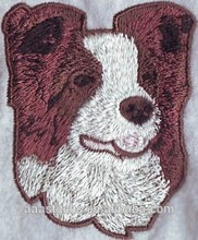 Free shipping Animal Dogs logo custom Iron-on personalized embroidery patch sew on the clothing