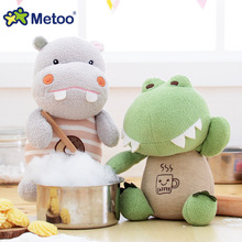 Metoo Kawaii Plush Stuffed Animal Cartoon Kids Toys for Girls Children Baby Birthday Christmas Gift Cat Hippo Crocodile Rabbit