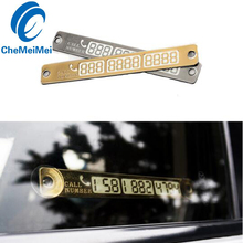 CheMeiMei Car Styling Parking Notification Phone Number Card Luminous Telephone Number Plate Car Accessories For Ford Focus 2(China)