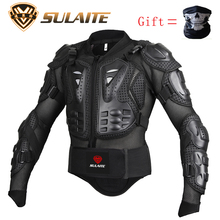 Genuine Motorcycle Jacket Racing Armor Protector ATV Motocross Body Protection Jacket Clothing Protective Gear Mask Gift(China)