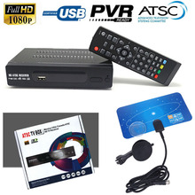 USA/Mexico/Canada/South Korea ANTENNA TERRESTRIAL ATSC TV BOX 1080P HDMI Digital/Analog CONVERTOR HD RECEIVER Indoor VHF UHF FTA