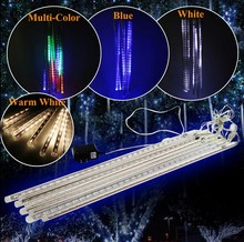 50CM Meteor Shower Rain Light LED Christmas Wedding Garden Decoration String Light  Waterproof 8 Tube Super Bright free shipping