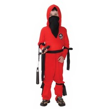 New Kids Red Ninja Child Halloween costume boys Fancy cosplay party dress up Childrens costumes