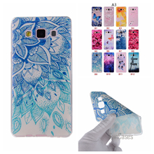 Cartoon Flower Butterfly Tree Painted Back Cover Silicon Gel Soft TPU Mobile Phone Case For Samsung Galaxy A3 A5 A7 A8 2016 Etui